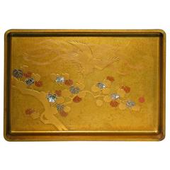 Japanese Meji Lacquer Stacking Trays