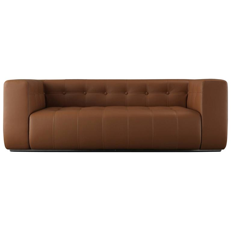 Good Quality Leather Sofa: Challenger Sofa In Brown Leather In High Quality For Sale