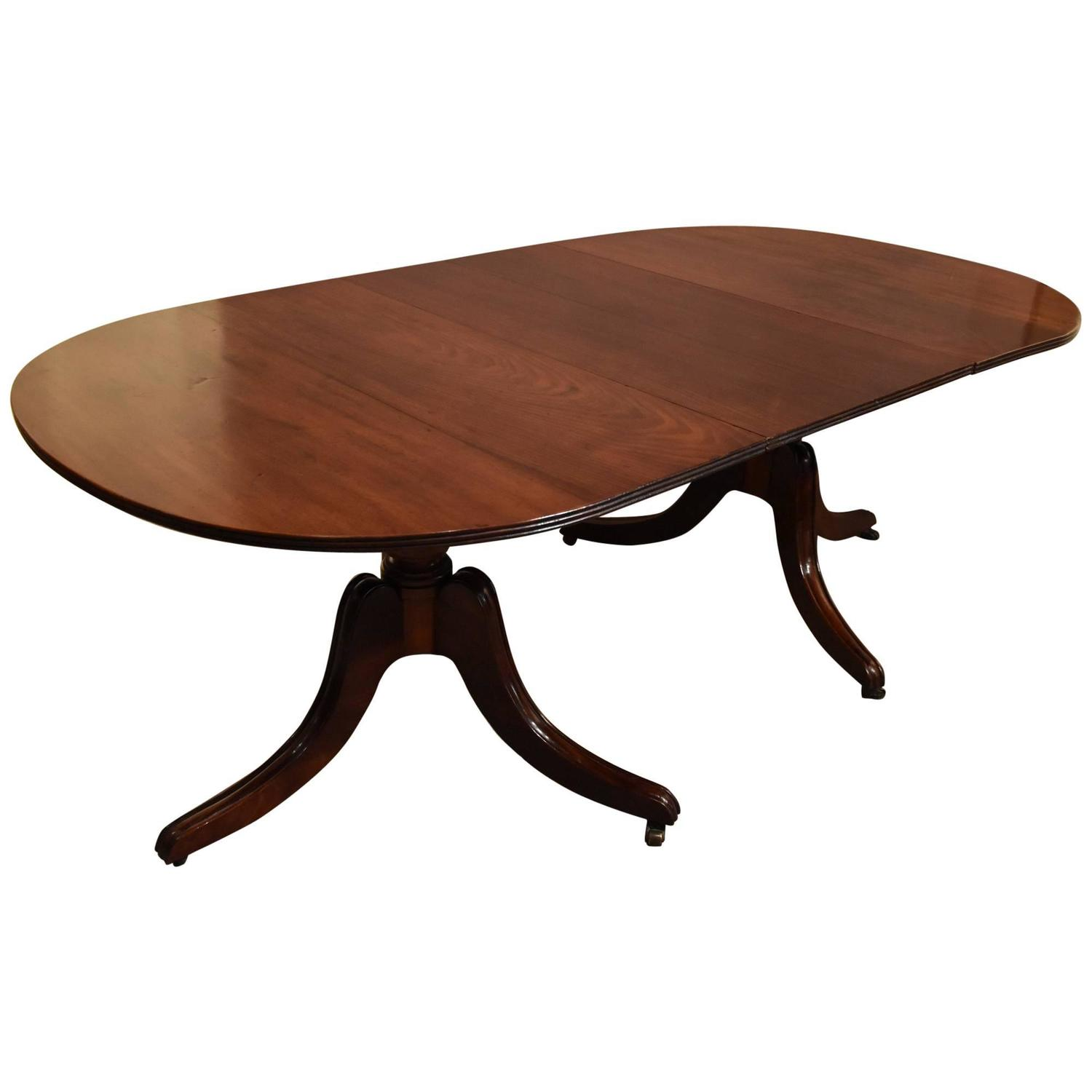 Elegant twin pillar dining table at 1stdibs for Pillar dining table