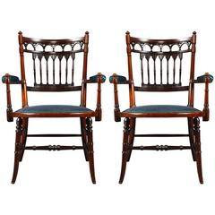 Pair of High Quality Victorian Rosewood Armchairs
