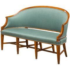 Louis XVI Sofa Bench Made of Fruit Wood, Reupholstered