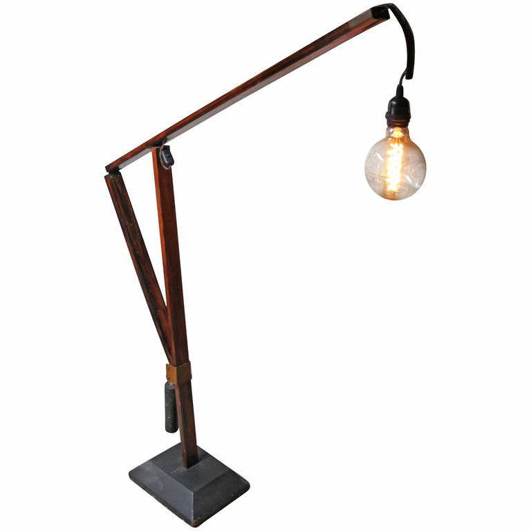 superb swedish mid century scratch built cantilever floor With large cantilever floor lamp