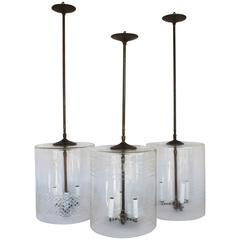 Three Cylindrical Pendant Fixtures