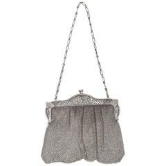 Italian Evening Silver Antique Handbag