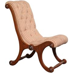 Mid-19th Century English, Mahogany Slipper Chair