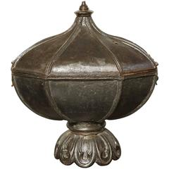 19th Century English Cast Iron Coal Scuttle