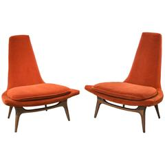 Handsome 1950s oxen shaped chaise lounge for sale at 1stdibs for S shaped chaise lounge chairs