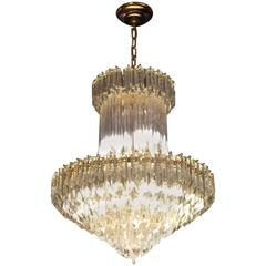 Gorgeous Mid-Century Italian Murano Glass Chandelier by Camer