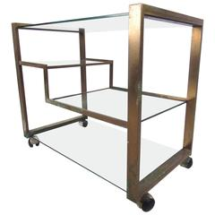 Mid-Century Modern Italian Serving Cart