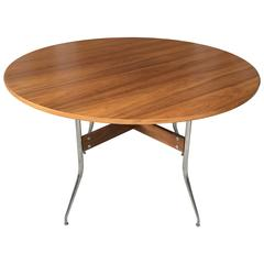 George Nelson for Herman Miller Swag Leg Walnut Dining Table