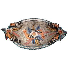 Hoopoe Dish AAA, Ceramic Sculpture by Ardmore from South Africa