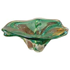 Free-Form Murano Glass Candy Dish Bowl