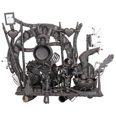 Found Object Assemblage by Hoppi Emberson