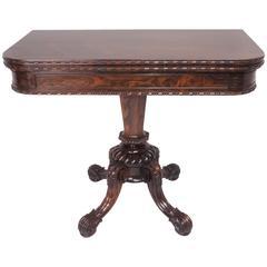 Regency Rosewood Card Table, circa 1820