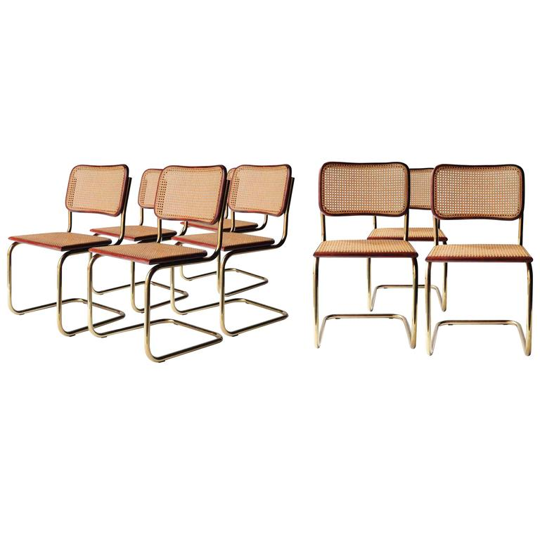 set of eight cesca chairs designed by marcel breuer at 1stdibs. Black Bedroom Furniture Sets. Home Design Ideas