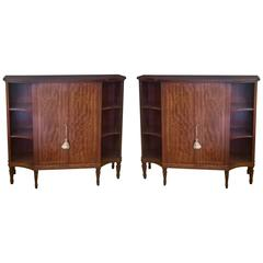Pair of Gillow's of Lancaster Mahogany Pier Cabinets
