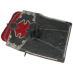 Moroccan Horse Saddle Blanket Black and Red