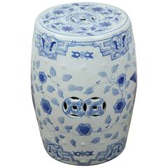 White and Blue Chinese Ceramic Garden Stool
