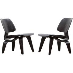 Set of Charles and Ray Eames LCW Chairs 'a'