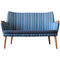 Hans Wegner AP20S Oak AP Stolen Sofa Loveseat Danish Modern Vintage