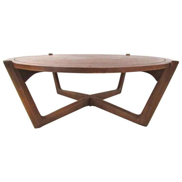 Mid century modern american walnut coffee table for sale for Modern coffee table sale