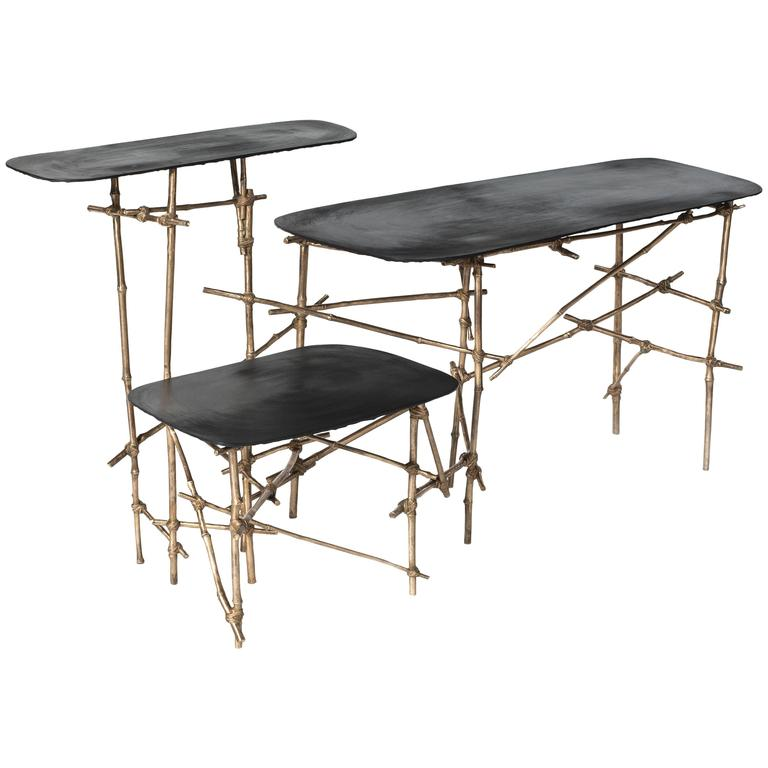 Contemporary Je Ne Sais Quoi Table Series from Les French by Glithero, 2016