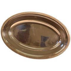 20th Century Silver Plated Oval Serving Tray