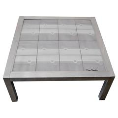 Pierre Cardin Tile-Top Cocktail Table