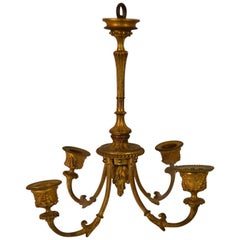 Louis XVI Small Hanging Bronze Light Fixture
