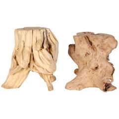 Root Wood Side Tables