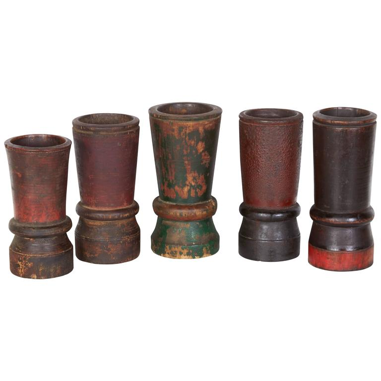 Collection of Antique Chinese Calligraphy Brush Holders