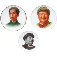 Cultural Revolution Porcelain Mao Pins