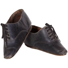 Tiny 19th Century Chinese Women's Leather Shoes