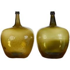 Blown Glass 19th Century Demijohns