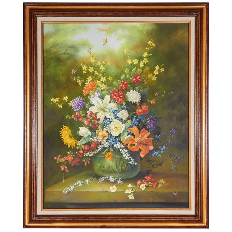 Ethelwyn Shiel Still Life Floral Painting For Sale