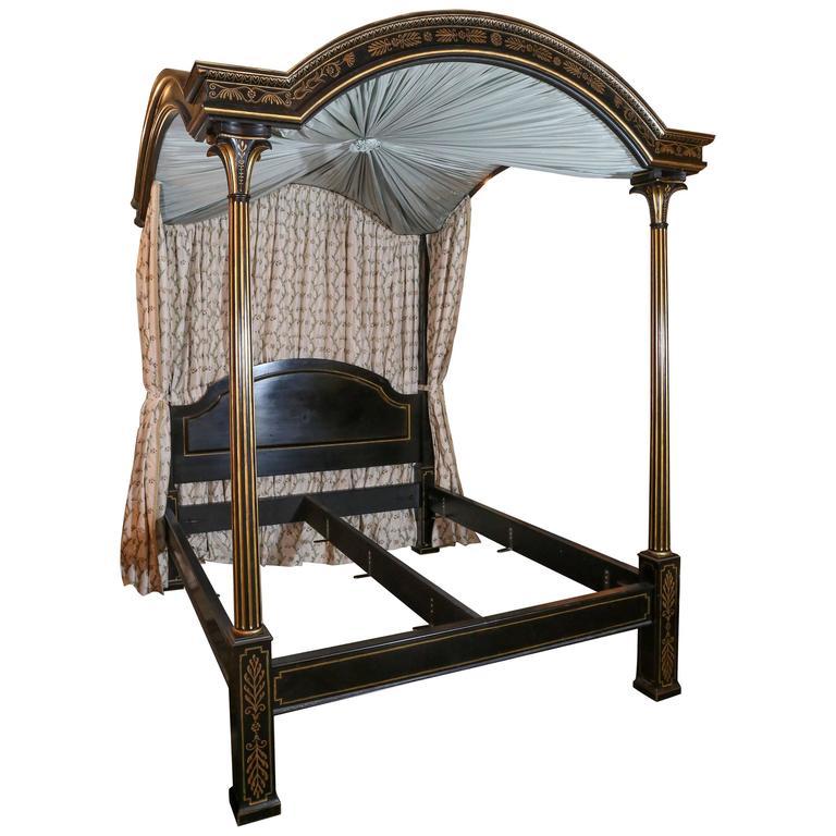 Custom-Made California-King Four-Post Bed