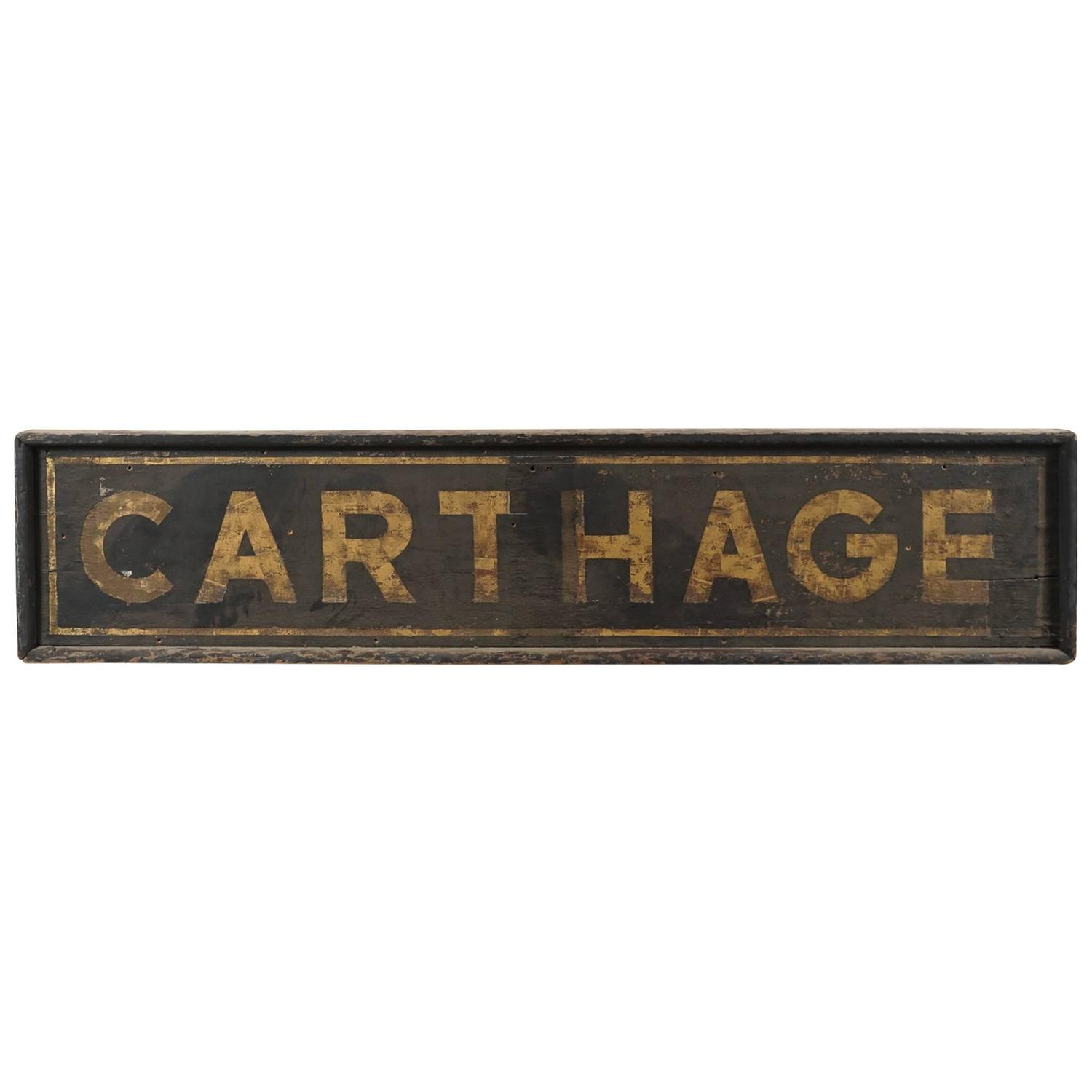 Rxr Depot Sign Carthage New York For Sale at 1stdibs