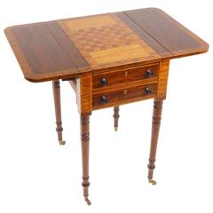 Pembroke Regency Mahogany Games Table