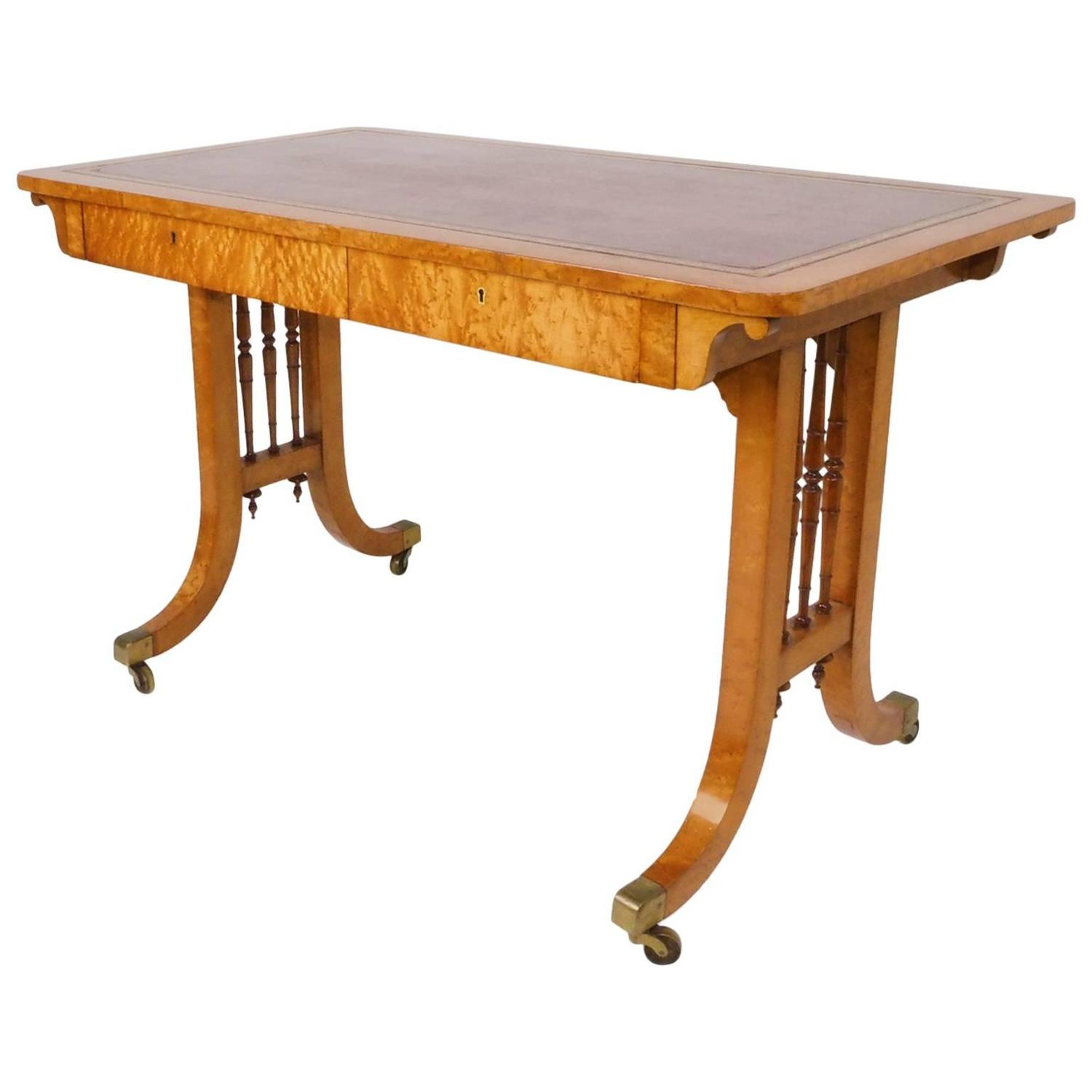 Bird 39 s eye maple writing table circa 1825 for sale at 1stdibs for Furniture 1825