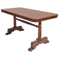 George IV Rosewood Writing Table, circa 1825