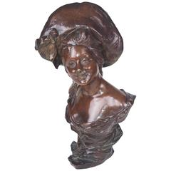 Late 19th Century French Bronze Bust