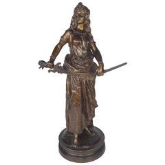 """Judith"" French Bronze by Albert Levy"