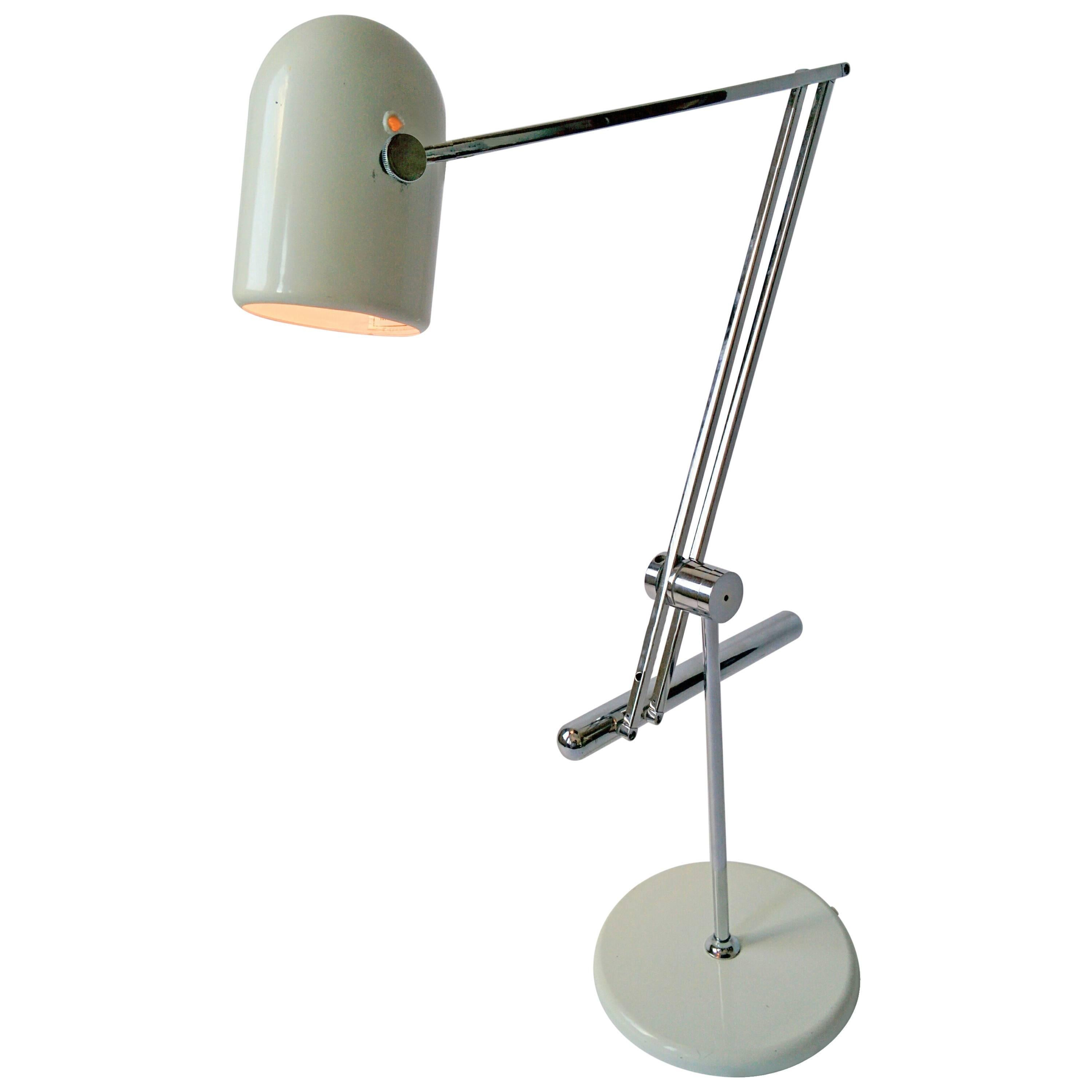 Reggiani Articulated Counterweight Table Lamp, 1960s, Italy