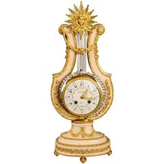 Good French White Marble and Ormolu Mantel Clock