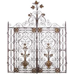 Antique Iron Gates from France, circa 1890