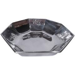 Kalo Hand-Hammered Sterling Silver Art Deco Bowl