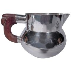 Mexican Heavy Sterling Silver Water Pitcher