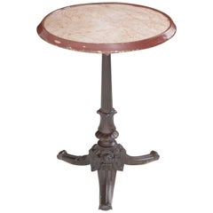 French Early 20th Century Bistro Table with Marble Top