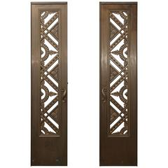 Two French Art Deco Bronze/Copper Doors