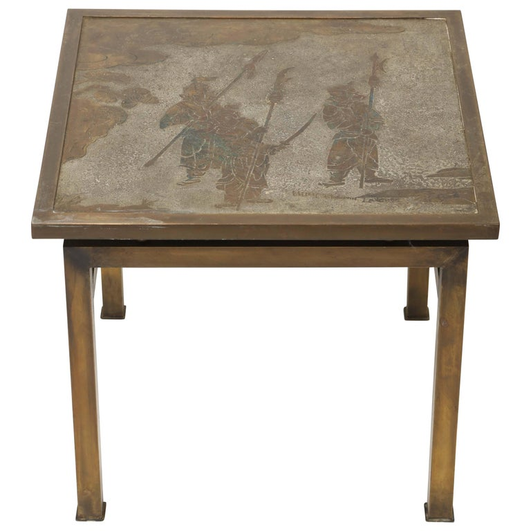 Philip & Kelvin Laverne Ming Side Table For Sale